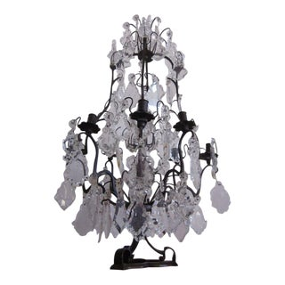 French Crystal Table Chandelier / Girandole by Bagues