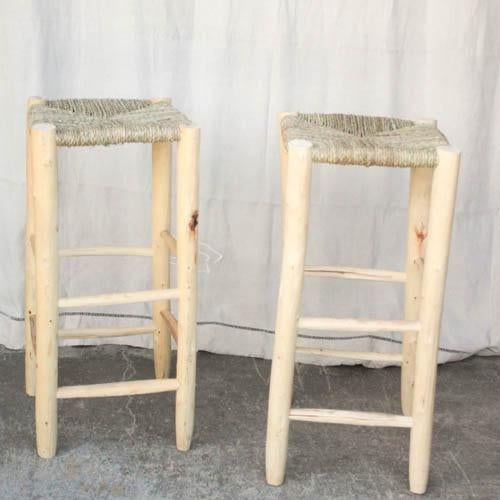 Moroccan Hand-Carved Bar Stools - A Pair - Image 2 of 5