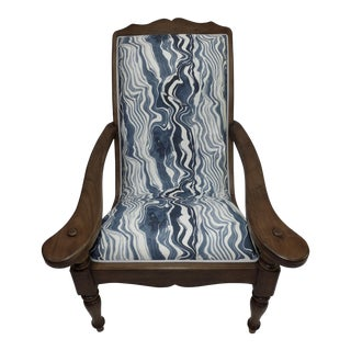 Colonial Upholstered Teak Plantation Chair