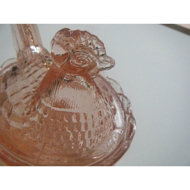 Image of Westmoreland Vintage Pink Glass Hen on Nest Dish