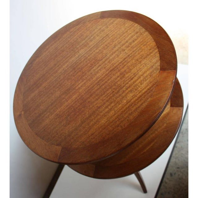 Edward Wormley for Dunbar, Two-Tier Mahogany Occasional Table - Image 7 of 10