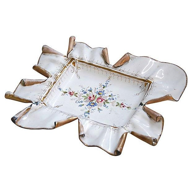 Image of Vintage 1950s French Hand-Painted Catchall Tray