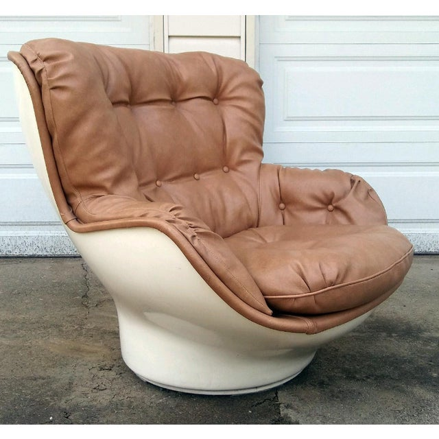 Michel Cadestin Karate Lounge Chair with Ottoman for Airborne Intl. - Image 6 of 6