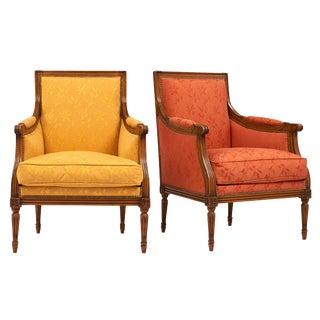 Vintage Louis XVI Style Bergères- A Pair