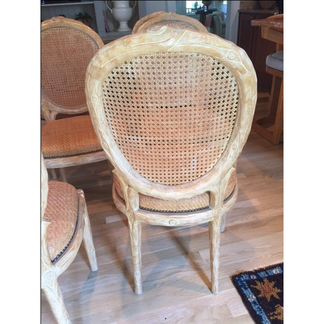 Faux Bois Dining Chairs - Set of 8 - Image 3 of 6