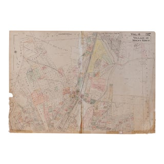 Vintage Hopkins Map of Town of Mt Kisco