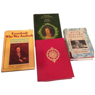 Vintage Historical Biographical Books - Set of 4