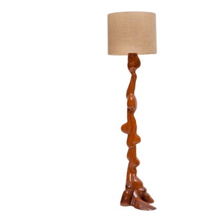 Handcrafted American Floor Lamp in the Manner of Wendell Castle