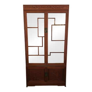 Rosewood Shanghai Bonsai Carved Cabinet