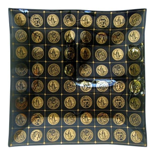 Georges Briard Black & Gold Serving Plate