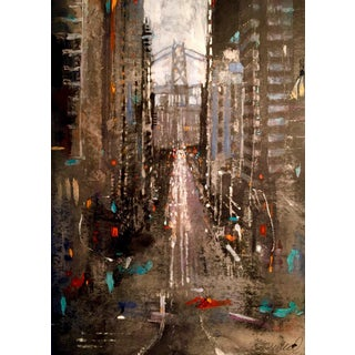 California Ave. San Francisco Cityscape Painting