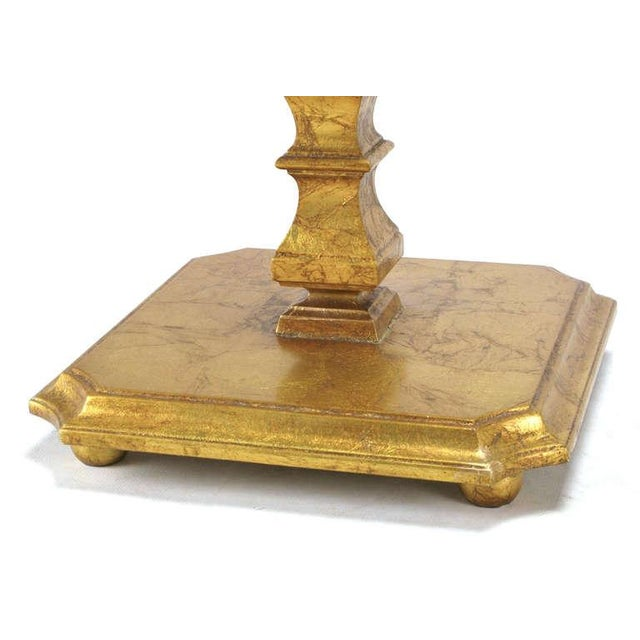 Pair of Italian Gilt Wood & Canted Corner Glass Top Tables - Image 5 of 5