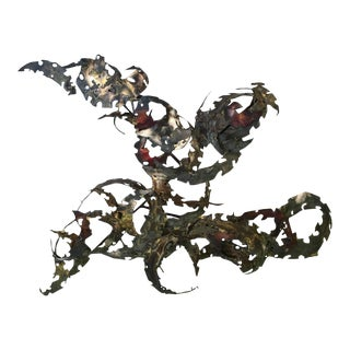 Important Oversized Silas Seandel Iron Wall Sculpture