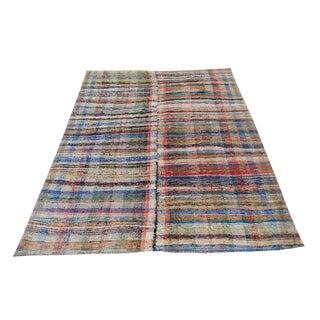 Vintage Turkish Hand-Made Flatweave Kilim Rug - 7′3″ × 10′5″