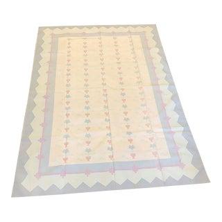 Handmade Flat Woven Kilim Rug - 6' x 9'