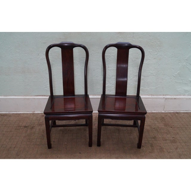 Chinese Rosewood Dining Chairs - Set of 4 - Image 2 of 10