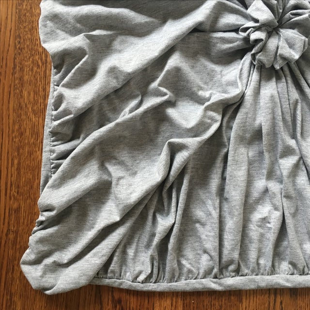Quilted Rosette Gray Euro Shams- A Pair - Image 3 of 6