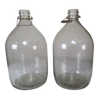 French Clear Jars - A Pair