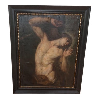 Saint Sebastian Oil Painting Circa 1600