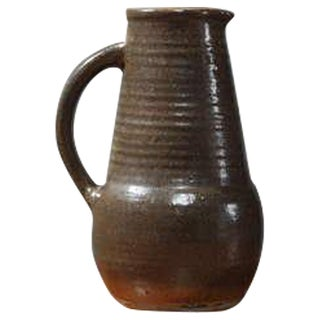 Stoneware Pitcher from the Fontgombault Abbey in France
