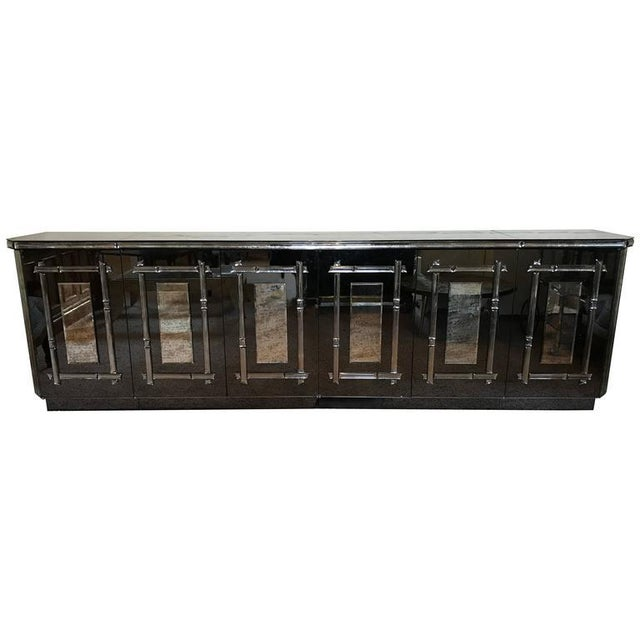 Hollywood Regency All Mirrored Sideboard Cabinet - Image 2 of 11