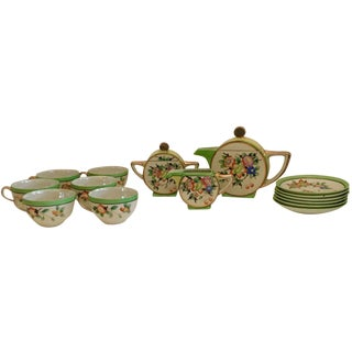 15-Piece Japanese Art Deco Tea Service
