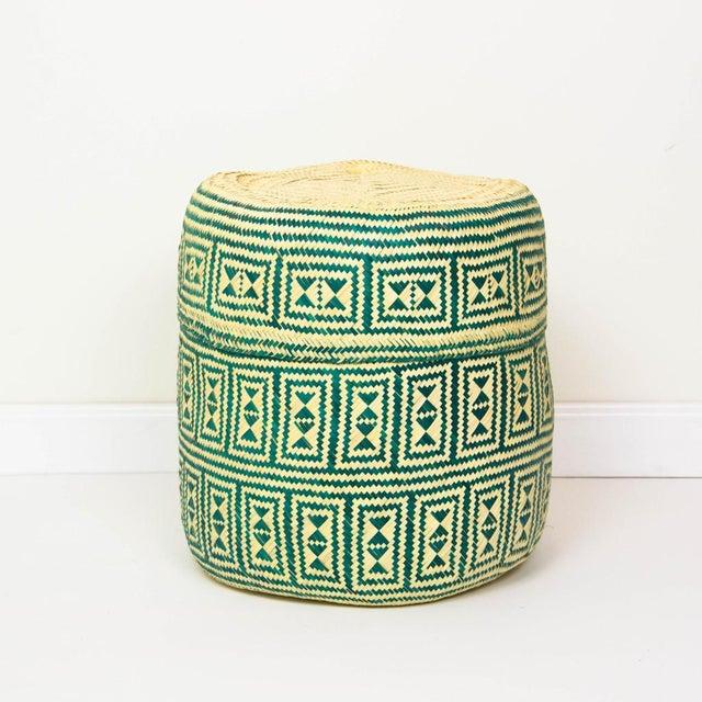 Green Handmade Oaxacan Jarrito Basket - Image 2 of 4