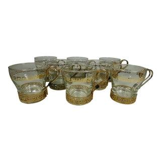 Greek Key Coffee Cups - Set of 8