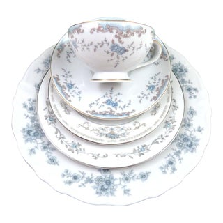 Mismatched Fine China Place Setting - Set of 5