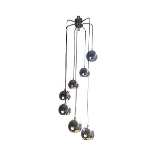 Mid-Century Chrome Tiered Globe Light