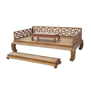 Oriental Rosewood Daybed Couch Bed Bench 3 Pcs Set