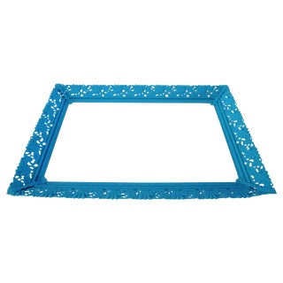 Aqua Blue Mirrored Vanity Tray