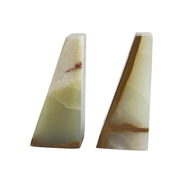 Image of Geometric Onyx Bookends - A Pair