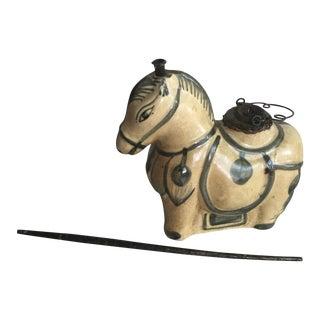 Vintage Horse Shaped Water Opium Pipe