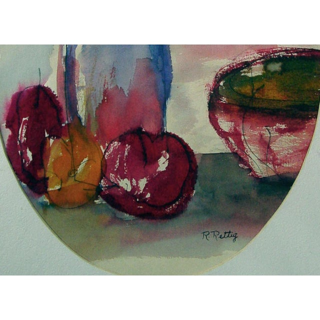 Image of Modernist Fruit Still Life Watercolor