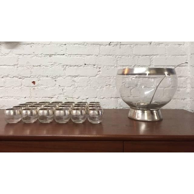Image of Mid-Century Dorothy Thorpe Silver Punch Bowl Set