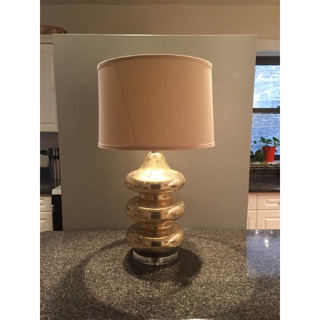 Gold Mercury Glass Lamp - Image 2 of 5