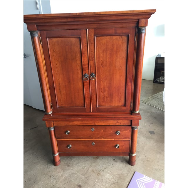 Cherry wood armoire chairish
