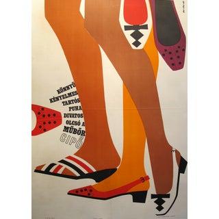 Original Hungarian Swinging 60's Shoe Poster