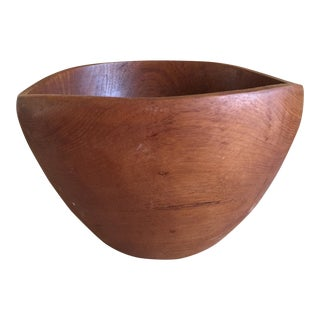 Natural Wood Carved Bowl