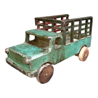 Antique Wooden Toy Truck