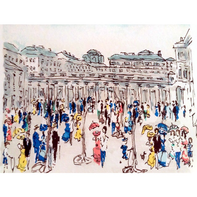 "Urbain Hutchet ""Paris, Palais Royal Ii"" Lithograph - Image 2 of 7"