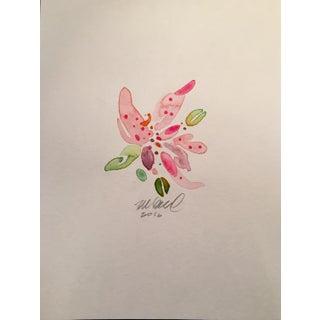 Pink Stargazer Lily Watercolor
