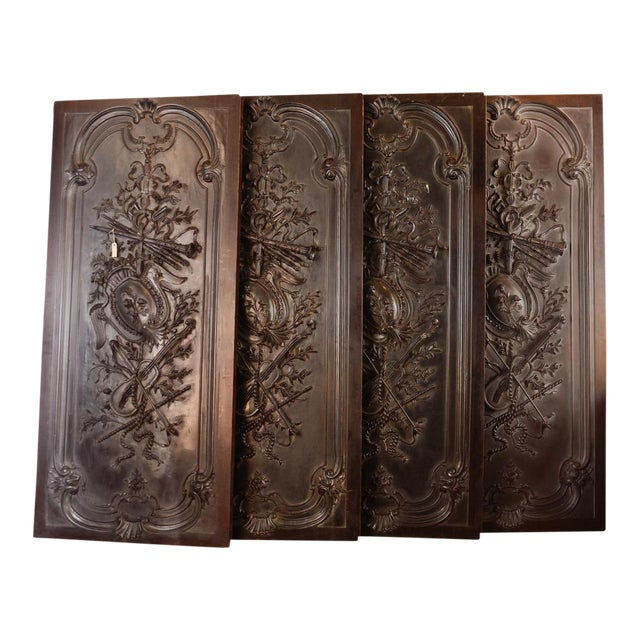 Antique Neoclassical Carved Doors - Set of 4 - Image 1 of 11
