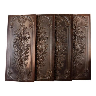 Antique Neoclassical Carved Doors - Set of 4