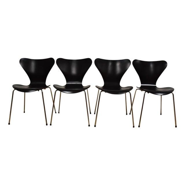 Arne Jacobsen Fritz Hansen Chairs - Set of 4 - Image 1 of 11