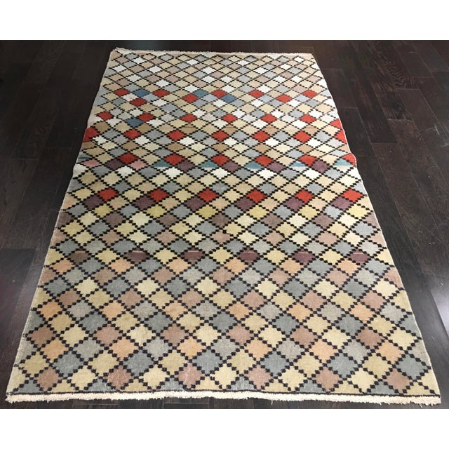 "Bellwether Rugs Vintage Turkish Zeki Muren Rug - 4' X 6'10"" - Image 2 of 7"