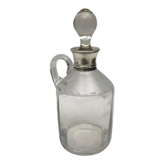 19th C. Glass & Sterling Silver Cruet