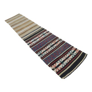 Vintage Turkish Kilim Hand Woven Wool Rug - 2′4″ × 9′6″