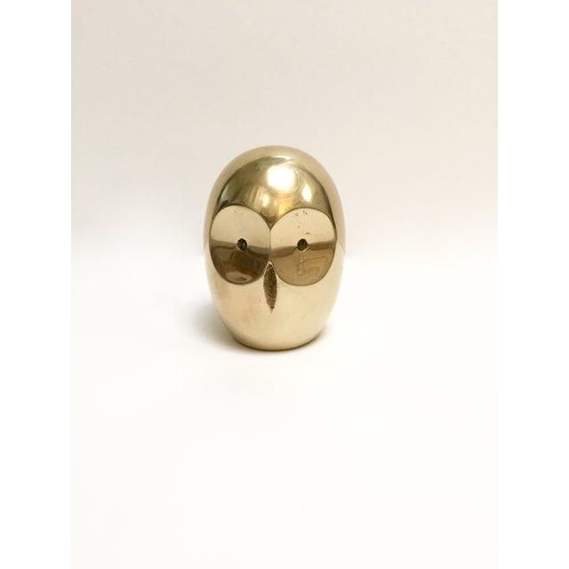 Vintage Modern Brass Owl Figure - Image 4 of 6